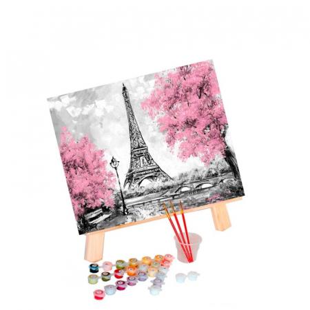 Pictură pe numere 40x50cm - Eiffel Tower in Paris1