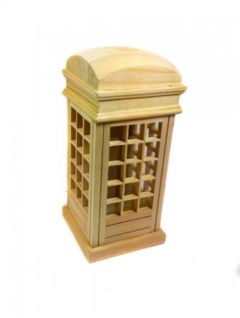 Pusculita din lemn - cabina telefonica0