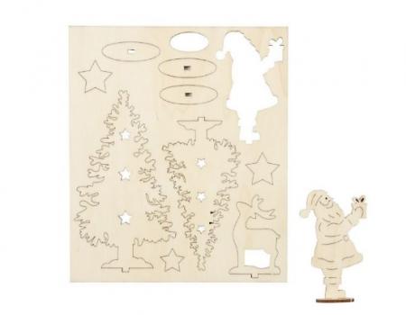 Peisaj de iarna din placaj lemn - puzzle 3D1