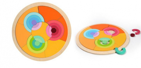 Puzzle cercuri curcubeu - joc in stil Montessori [1]