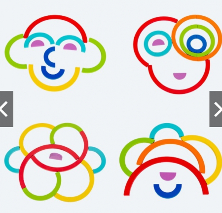 Puzzle cercuri curcubeu - joc in stil Montessori [3]