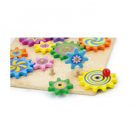 Puzzle cu roti dintate - joc de indemanare si atentie Viga1