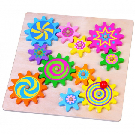 Puzzle cu roti dintate - joc de indemanare si atentie Viga0