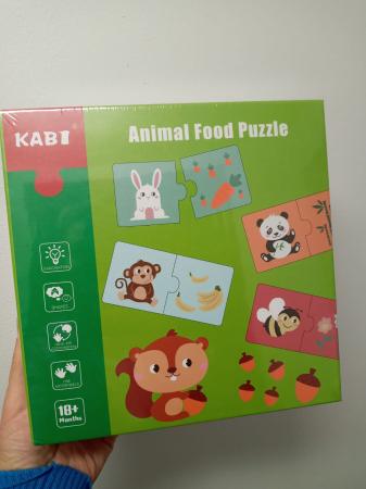 Puzzle de asociere - Ce mananca animalele [2]