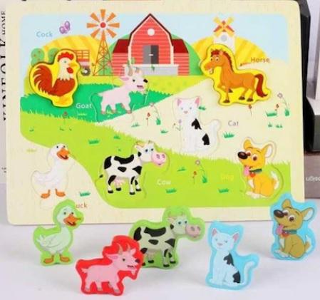 Puzzle 3D ferma de animale domestice0