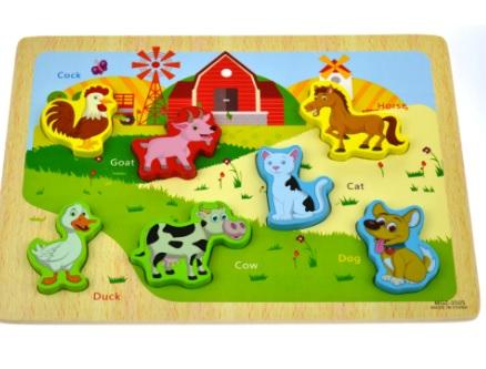 Puzzle 3D ferma de animale domestice1