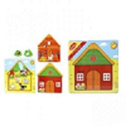 Puzzle din lemn ferma - multistrat1