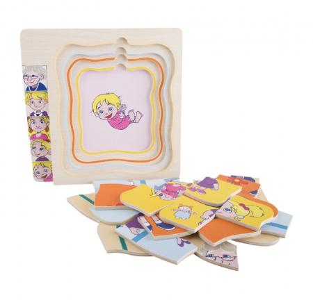 Puzzle suprapus in straturi - Etapele vietii de la fetita la batrana, varstele [3]