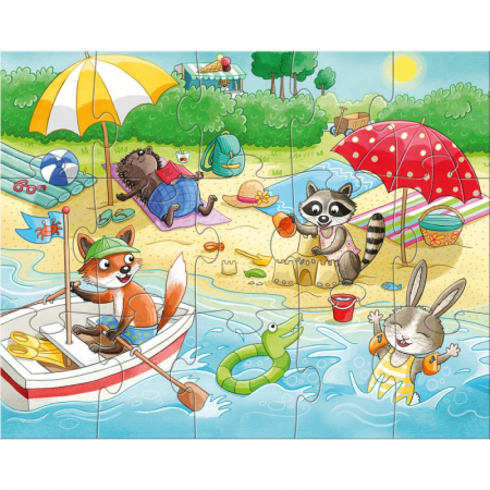 Set 4 puzzle-uri Haba - anotimpurile2