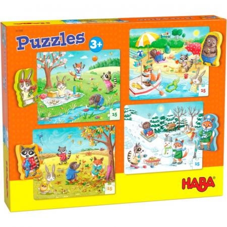 Set 4 puzzle-uri Haba - anotimpurile0