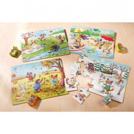 Set 4 puzzle-uri Haba - anotimpurile5