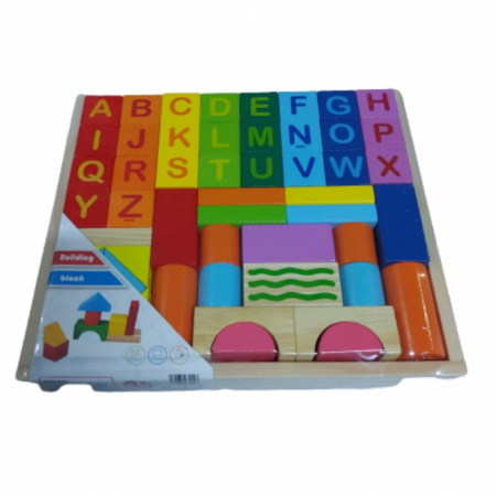 Set cuburi din lemn - constructie cu litere [1]