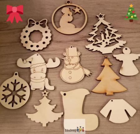 Set - figurine de iarna si Craciun de pictat1