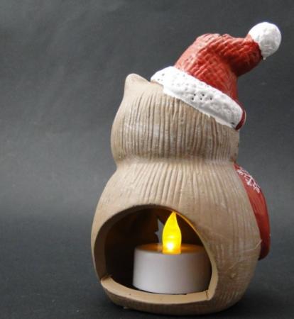 Candela ceramica bufnita - suport lumanare1