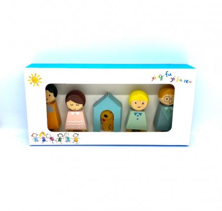 Set familia de papusi din lemn [2]