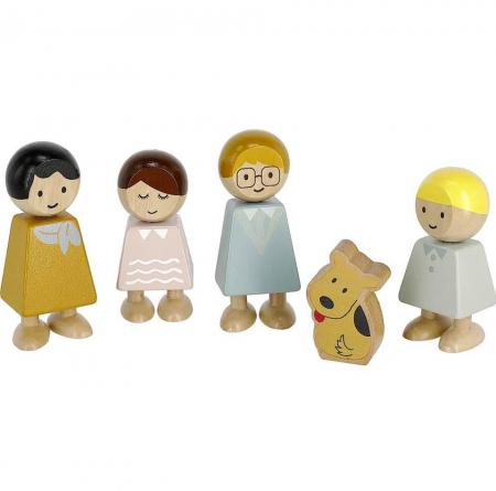 Set familia de papusi din lemn [1]