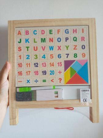 Tabla de scris pliabila din lemn cu 2 fete [3]