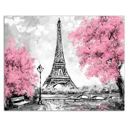 Pictură pe numere 40x50cm - Eiffel Tower in Paris0