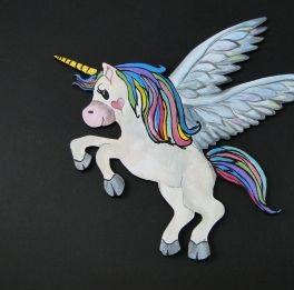 Forma placaj cu panza - unicorn 20cm [1]
