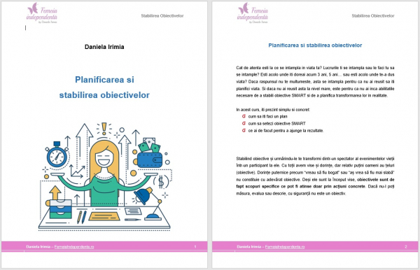 Curs online Planificarea si Stabilirea Obiectivelor 1