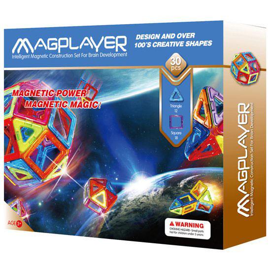 Joc de constructie magnetic - 30 piese - MAGPLAYER