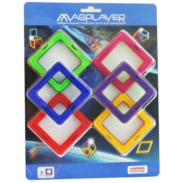 Joc de constructie magnetic - 6 piese - MAGPLAYER