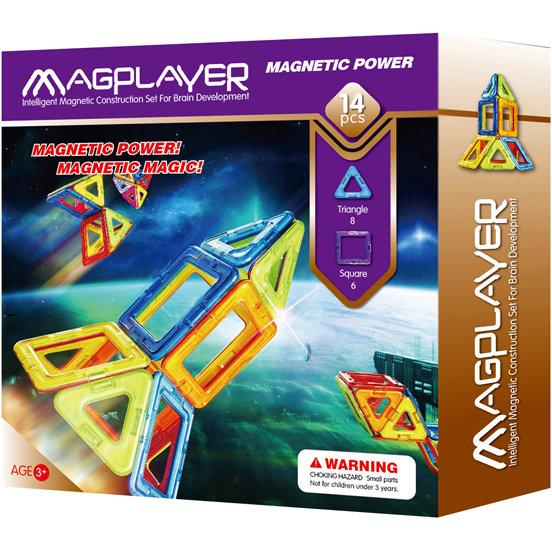 Joc de constructie magnetic - 14 piese - MAGPLAYER 0