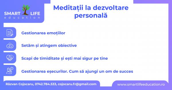 Meditaţii la Dezvoltare Personală sau Coaching/Îndrumare individuală pentru adolescenţi