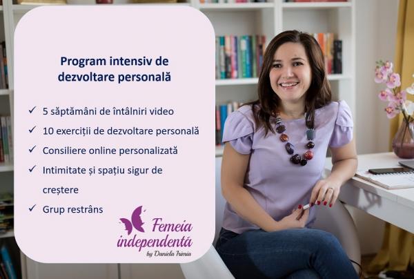Program intensiv de dezvoltare personală _ 5 săptămâni pentru tine