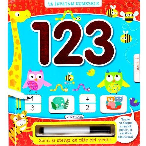 """Scrii si stergi - """"123 Invatam numerele"""" 0"""