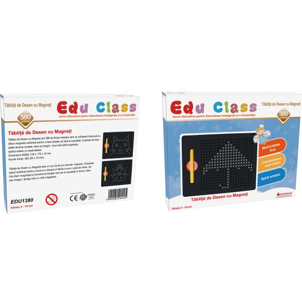 Tablita de desen cu magneti - 380 piese - marca Edu Class 1