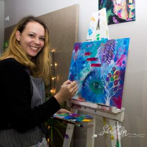 Curs de pictura intuitiva organizat de SheZen - 17 august 2019