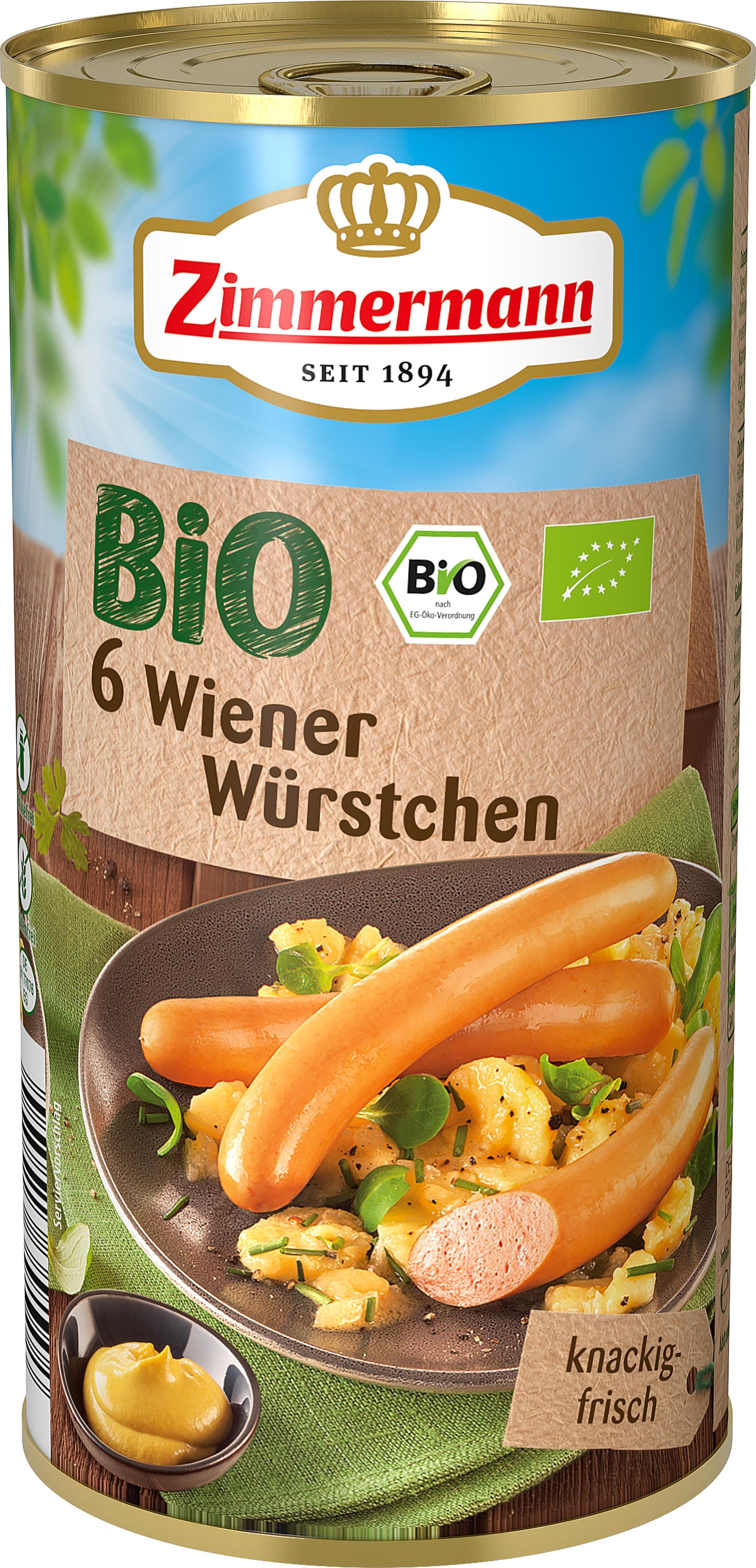 Crenvursti Wiener 565 g Zimmermann Bio, fara gluten [0]