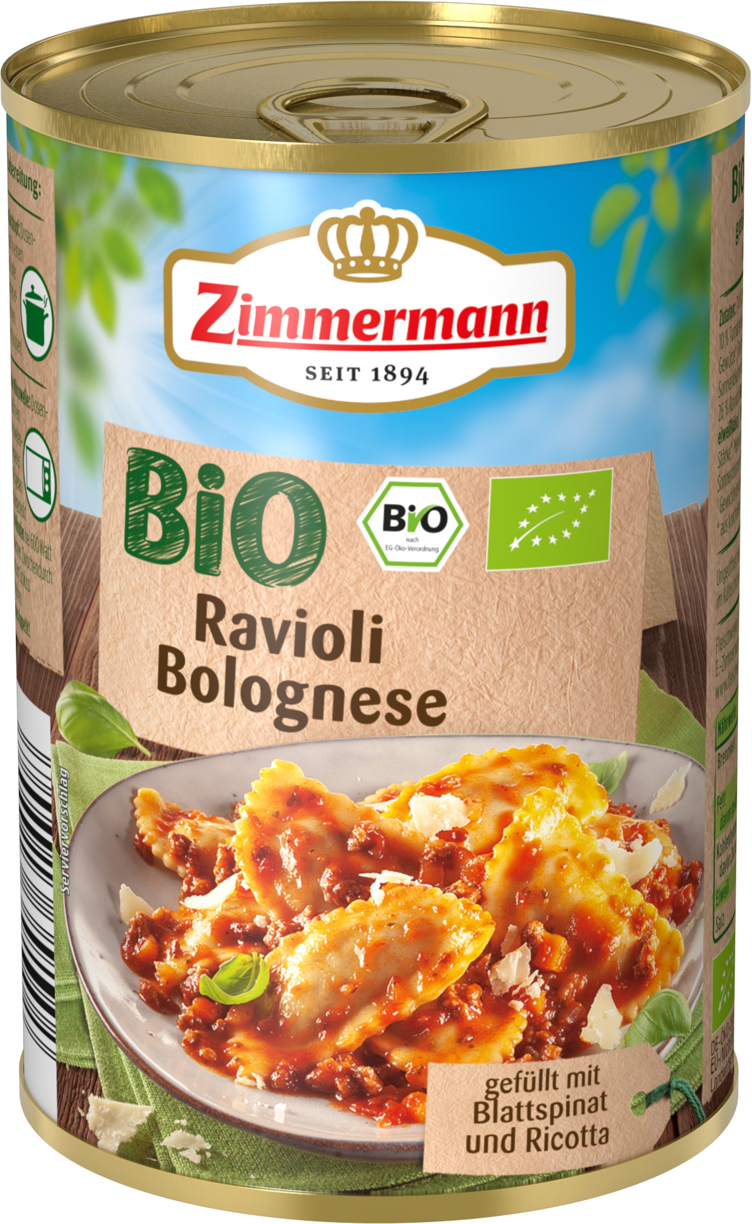 Ravioli Bolognese 400 g Zimmermann Bio [0]