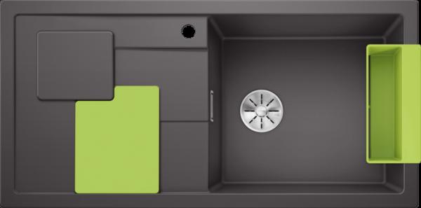 BLANCO SITY XL 6 S gri piatra (cu accesorii kiwi) 0
