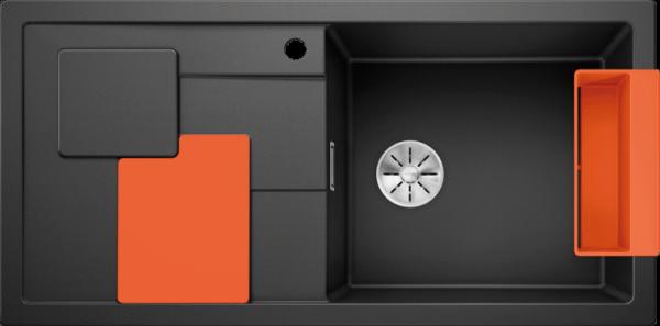 BLANCO SITY XL 6 S antracit ( cu accesorii orange) 0