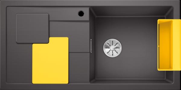 BLANCO SITY XL 6 S gri piatra ( cu accesorii lemon) 0