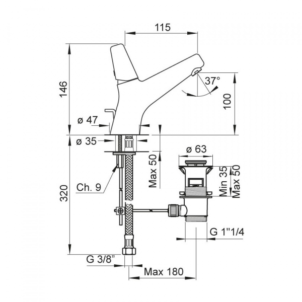 Baterie PONSI Rod LA02 1