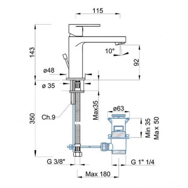 Baterie PONSI Versilia LAP1 1