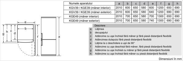BOSCH KGV39VLEAS 2