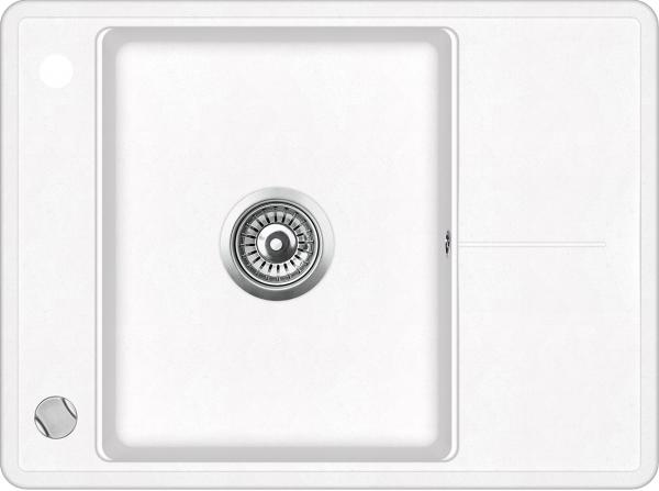 Pachet Aquasanita chiuveta Bella SQB102-710AW, silicsana cu baterie Forte-710, cartus ceramic, alb 1