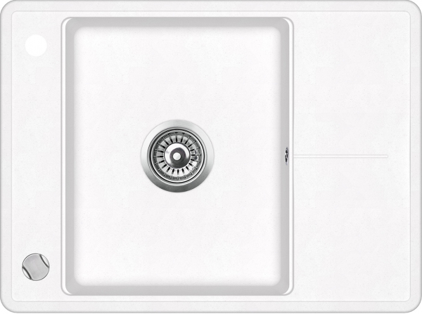 Pachet Aquasanita chiuveta Bella SQB102-710AW, silicsana cu baterie Sabia 5523-710, cartus ceramic, alb [2]