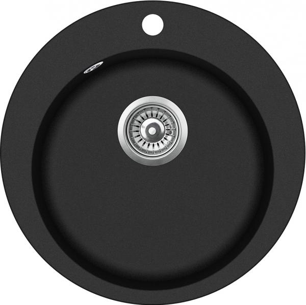 Pachet Aquasanita Pachet Clarus SR100-710AW, chiuveta silicsana, cu baterie Rondo cartus ceramic negru 1