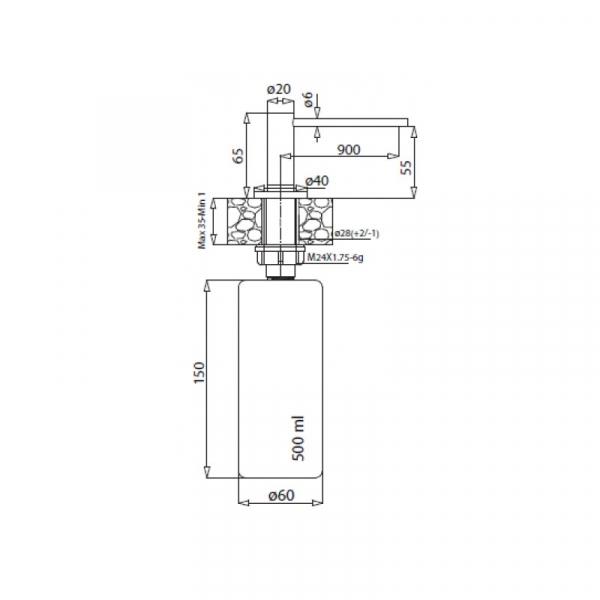 Dozator sapun AQUASANITA DS-601 [1]
