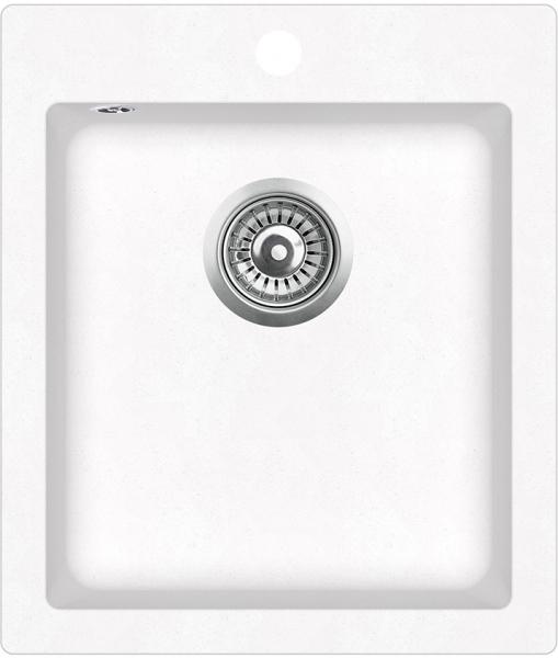 Pachet Aquasanita chiuveta Simplex , silicsana, cu baterie Forte, cartus ceramic, alb 1
