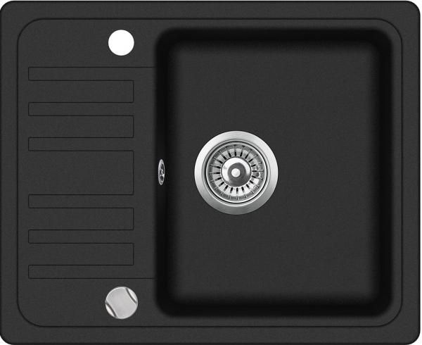 Pachet Aquasanita Notus SQ102-601AW,chiuveta silicsana, cu baterie Forte cartus ceramic, negru metalic 5