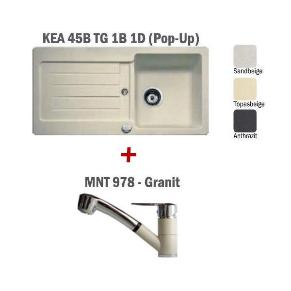Pachet Teka chiuveta KEA 45B + baterie MNT 978 Granit 0