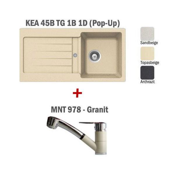 Pachet Teka chiuveta KEA 45B + baterie MNT 978 Granit 1