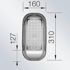 Recipient chiuveta gri transparent 214 443 0