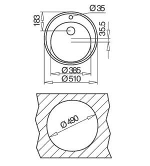 TEKA CENTROVAL 45 inox mat [1]